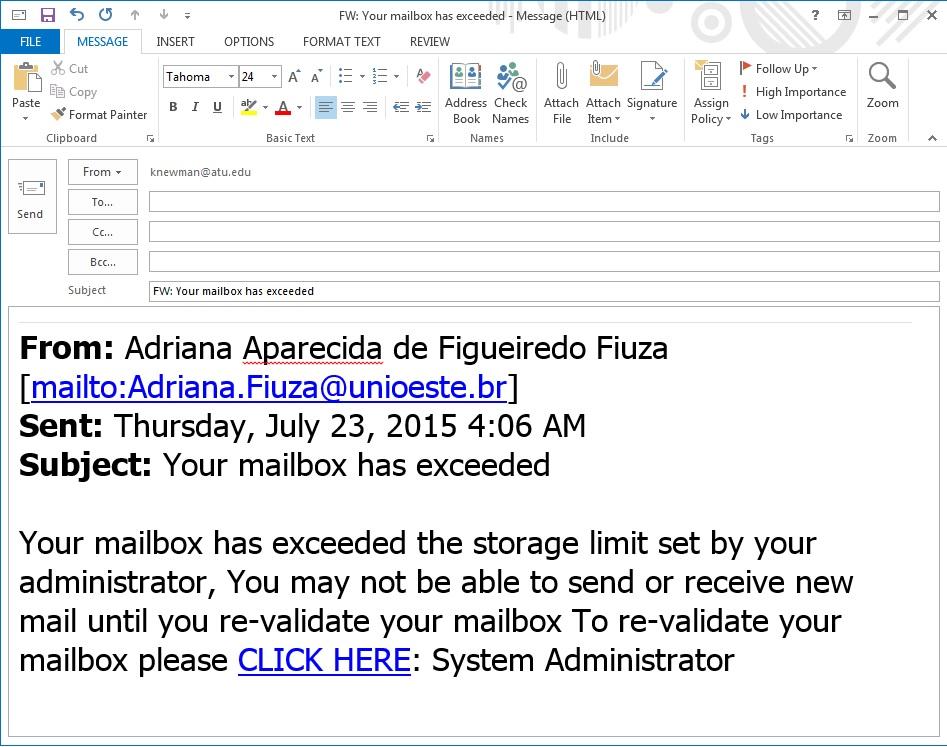 Adriana Mailbox_Exceeded