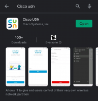 Cisco UDN application in the Google Play store.